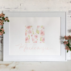 Floral Monogram and Name